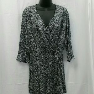 Romper ivory and black size large